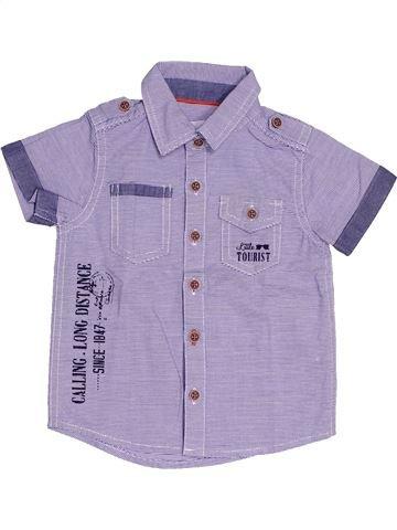 Chemise manches courtes garçon GEMO violet 6 mois été #1538572_1