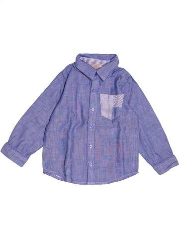 Chemise manches longues garçon GRAIN DE BLÉ bleu 18 mois hiver #1538585_1