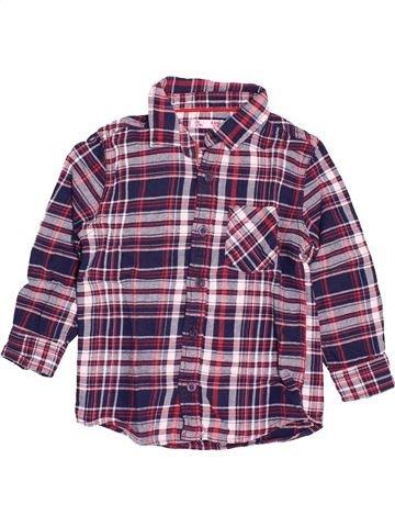 Chemise manches longues garçon DPAM violet 4 ans hiver #1538715_1