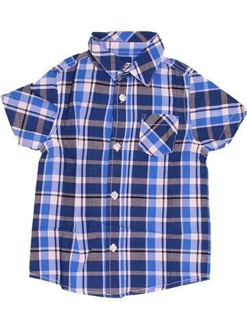 Chemise manches courtes garçon LH BY LA HALLE bleu 3 ans été #1538785_1