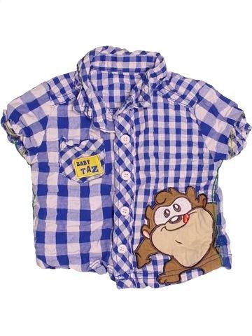 Chemise manches courtes garçon GEORGE violet 3 mois été #1539643_1