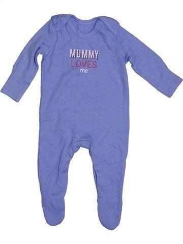 Pyjama 1 pièce garçon GEORGE bleu 3 mois été #1539838_1
