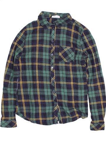 Chemise manches longues garçon NEW LOOK bleu 14 ans hiver #1539975_1