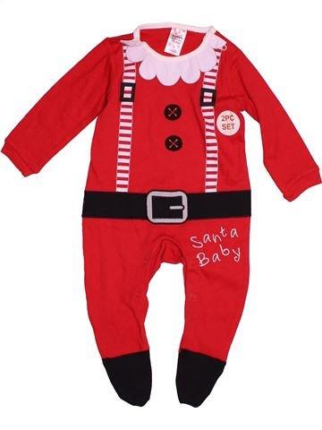 Pyjama 1 pièce unisexe SANTA'S LITTLE HELPER rouge 6 mois hiver #1539991_1