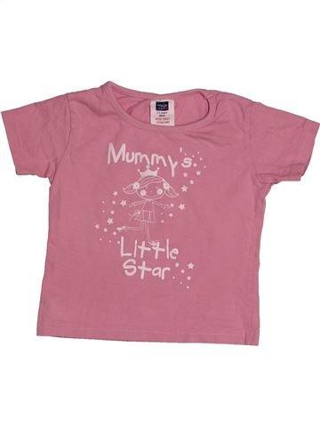 Camiseta de manga corta niña M&CO rosa 3 años verano #1540084_1