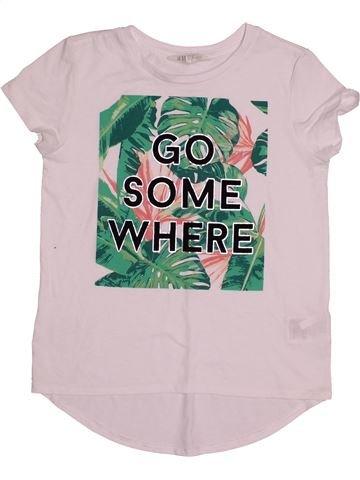 T-shirt manches courtes fille H&M blanc 10 ans été #1540533_1