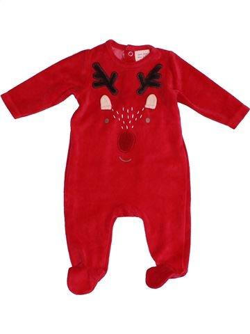 Pyjama 1 pièce unisexe ZARA rouge 3 mois hiver #1540688_1