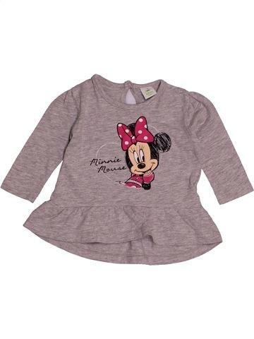 Camiseta de manga larga niña DISNEY gris 3 meses invierno #1541132_1