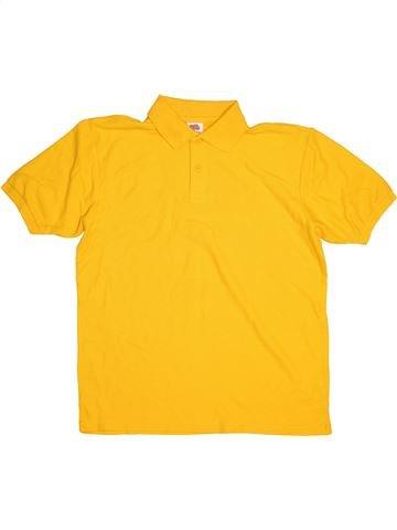 Polo manches courtes garçon FRUIT OF THE LOOM jaune 12 ans été #1541377_1