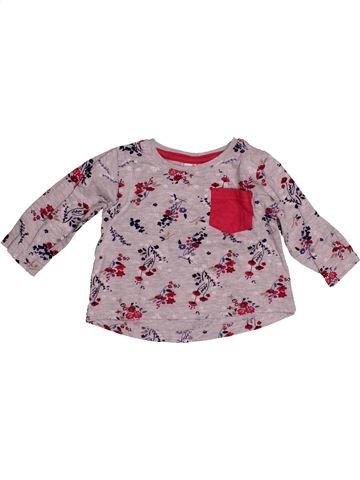 T-shirt manches longues fille BABY violet 6 mois hiver #1541418_1