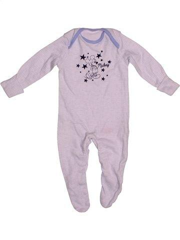 Pyjama 1 pièce garçon DISNEY blanc 1 mois été #1542101_1