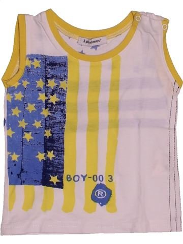Top - Camiseta de tirantes niño 3 POMMES rosa 18 meses verano #1542394_1