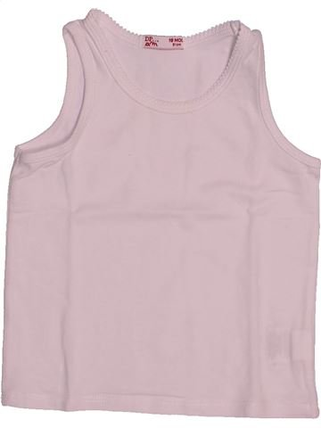 T-shirt sans manches fille DPAM rose 18 mois été #1542548_1