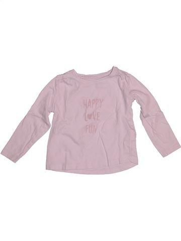 T-shirt manches longues fille VERTBAUDET rose 3 ans hiver #1542590_1