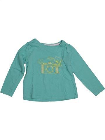 Camiseta de manga larga niña VERTBAUDET verde 3 años invierno #1542614_1