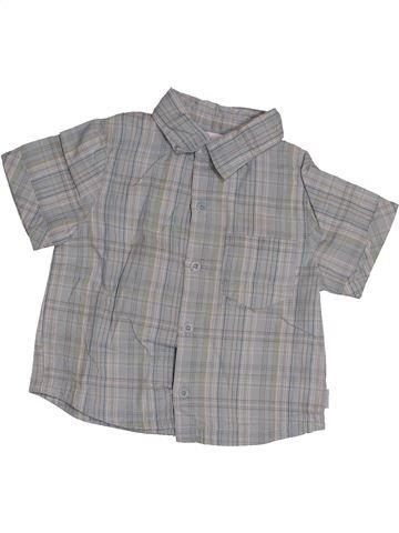 Chemise manches courtes garçon OKAIDI gris 12 mois été #1542834_1