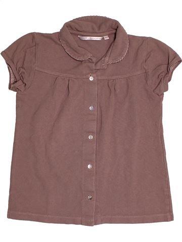 Polo manches courtes fille BUISSONNIERE violet 10 ans été #1542856_1