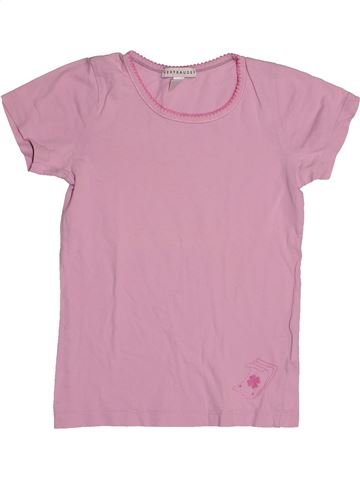 Camiseta de manga corta niña VERTBAUDET rosa 8 años verano #1542943_1