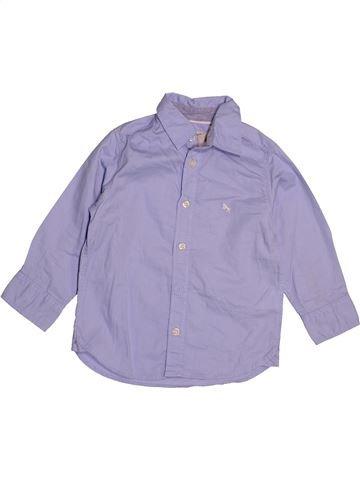 Chemise manches longues garçon H&M violet 2 ans hiver #1542998_1