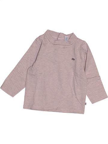 T-shirt manches longues garçon OKAIDI rose 12 mois hiver #1543092_1
