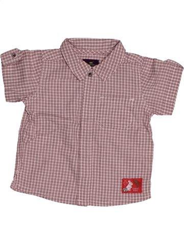 Chemise manches courtes garçon SERGENT MAJOR rose 6 mois été #1543146_1