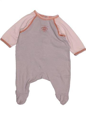 Pyjama 1 pièce garçon PETIT BATEAU rose 1 mois été #1543158_1