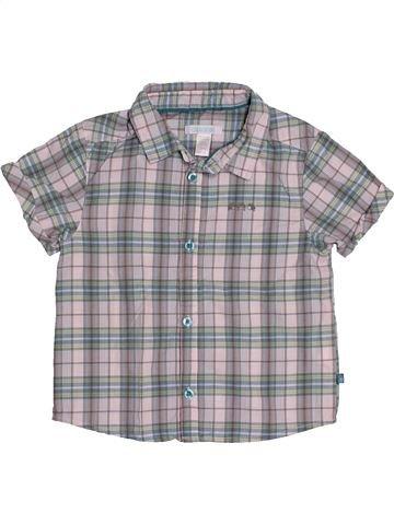 Chemise manches courtes garçon OKAIDI gris 2 ans été #1543328_1