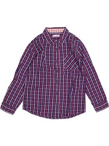 Chemise manches longues garçon DPAM violet 10 ans hiver #1543355_1