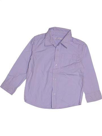 Chemise manches longues garçon GEMO violet 3 ans hiver #1543511_1