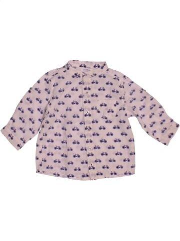 Chemise manches longues garçon BOUT'CHOU rose 6 mois hiver #1544146_1