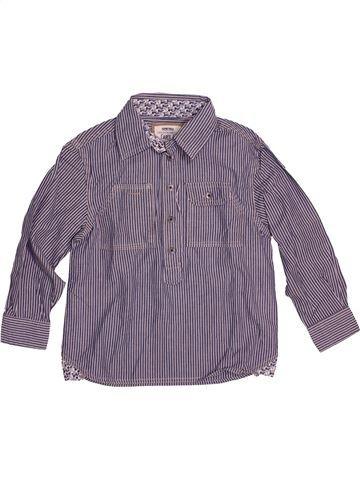 Chemise manches longues garçon OKAIDI violet 4 ans hiver #1544266_1