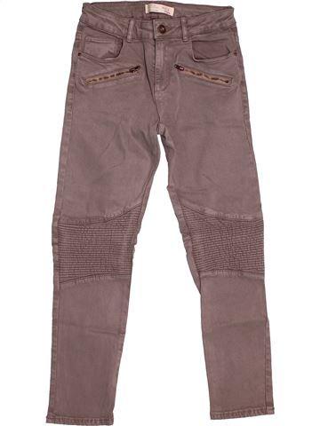 Pantalon fille ZARA marron 9 ans été #1544304_1