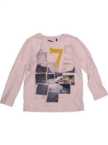 T-shirt manches longues garçon IKKS rose 4 ans hiver #1544327_1