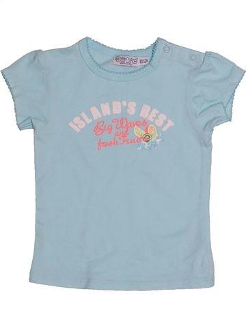 T-shirt manches courtes fille DIRKJE bleu 12 mois été #1544906_1