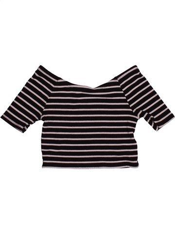 T-shirt manches courtes fille YOUNG DIMENSION marron 8 ans été #1545052_1