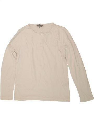 T-shirt manches longues garçon JBC beige 10 ans hiver #1546744_1
