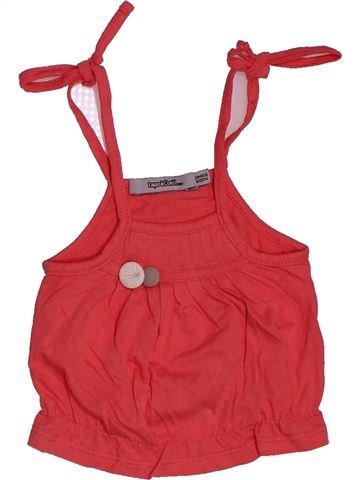 T-shirt sans manches fille TAPE À L'OEIL rouge 3 mois été #1546941_1