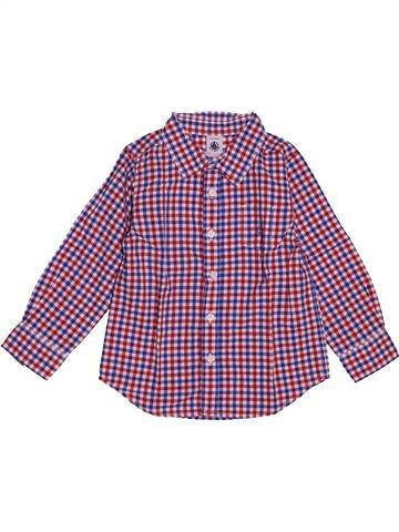 Chemise manches longues garçon PETIT BATEAU violet 3 ans hiver #1547450_1