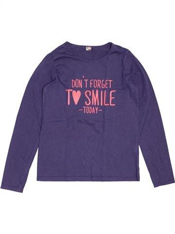 T-shirt manches longues fille TAPE À L'OEIL violet 14 ans hiver #1547805_1