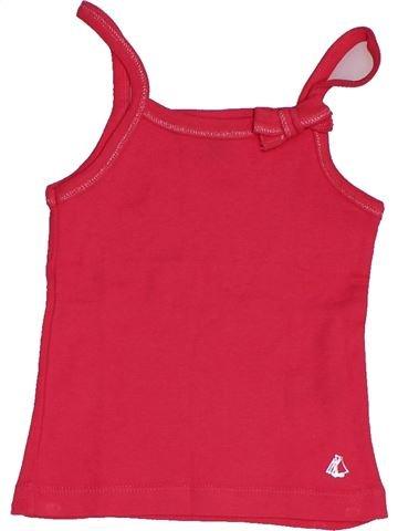 T-shirt sans manches fille PETIT BATEAU rose 3 ans été #1549029_1