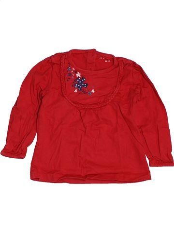 T-shirt manches longues fille IN EXTENSO rouge 2 ans hiver #1549386_1