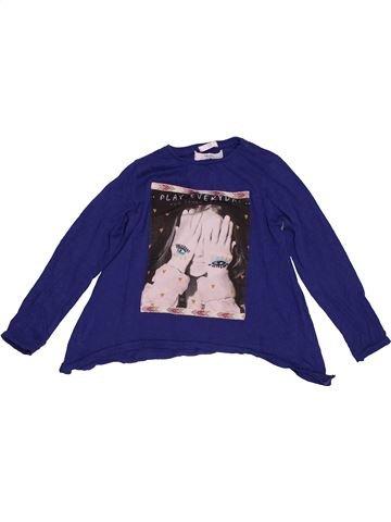 T-shirt manches longues fille MANGO bleu 6 ans hiver #1549552_1