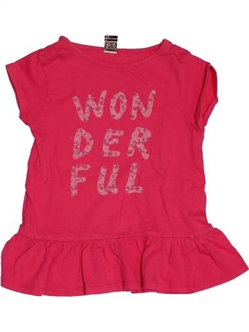 T-shirt manches courtes fille TAPE À L'OEIL rose 3 ans été #1549643_1