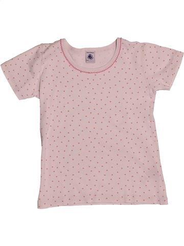 T-shirt manches courtes fille PETIT BATEAU rose 6 ans été #1549694_1