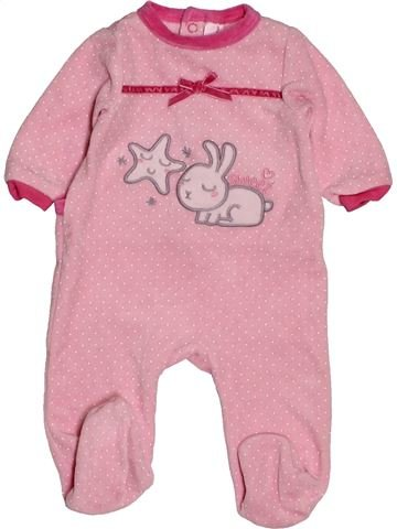 Pyjama 1 pièce fille TEX rose 3 mois hiver #1550755_1
