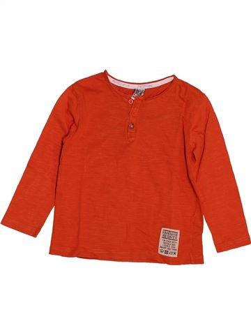 T-shirt manches longues garçon TAPE À L'OEIL rouge 4 ans hiver #1551175_1