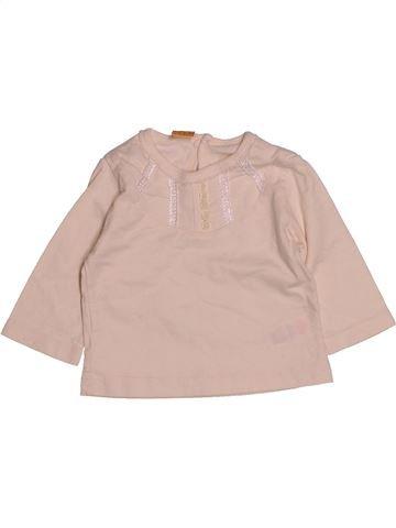 T-shirt manches longues fille MINI MODE beige 6 mois hiver #1552675_1