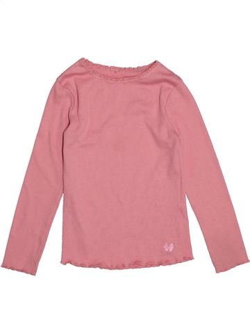 T-shirt manches longues fille GEORGE rose 7 ans hiver #1552743_1