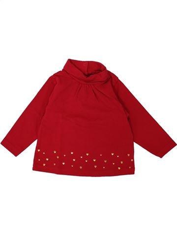 T-shirt col roulé fille TAPE À L'OEIL rouge 12 mois hiver #1553332_1