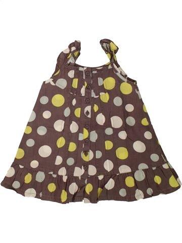 Vestido niña BENETTON marrón 12 meses verano #1553460_1